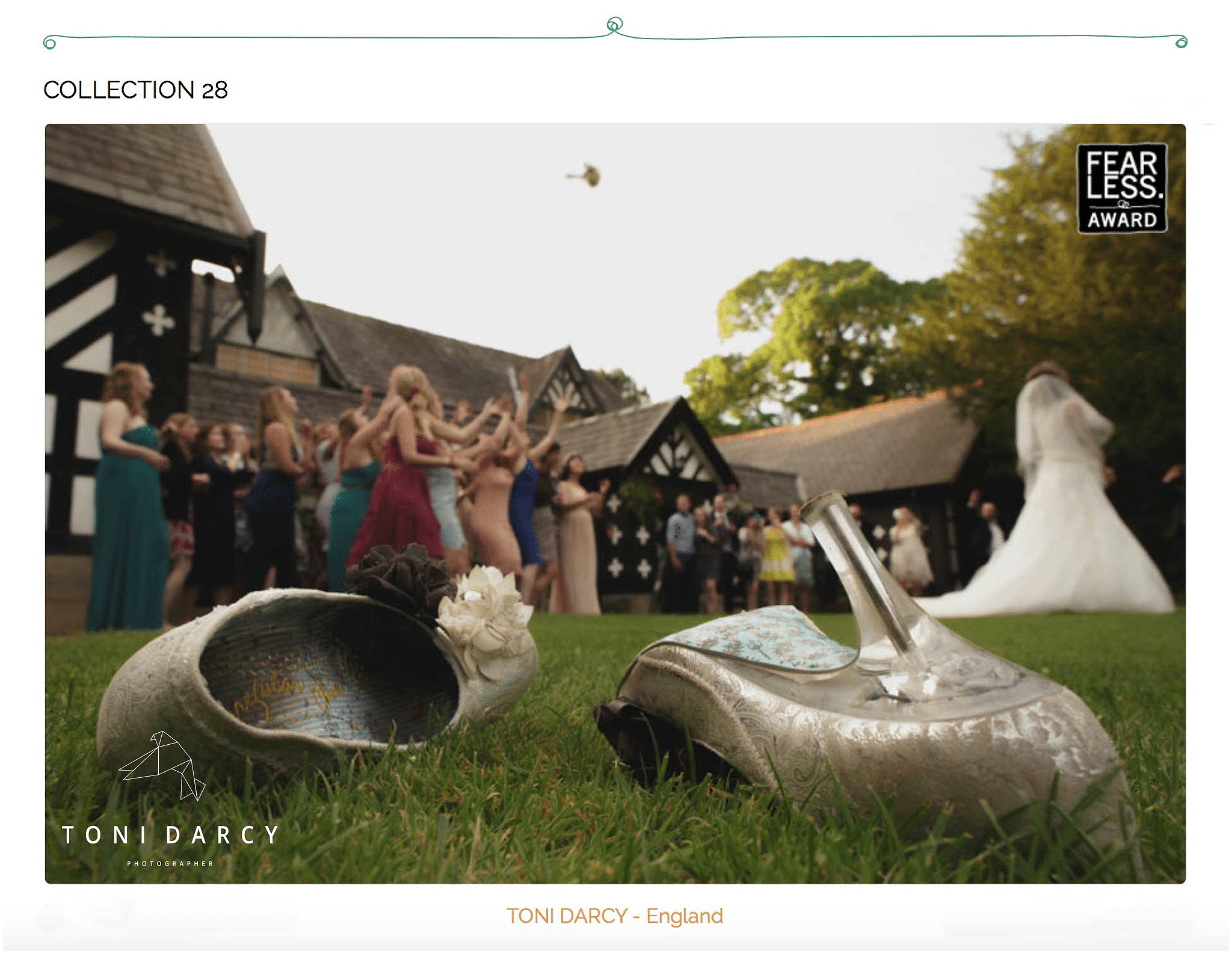 Award winning wedding photographer – I've got a FEARLESS AWARD!