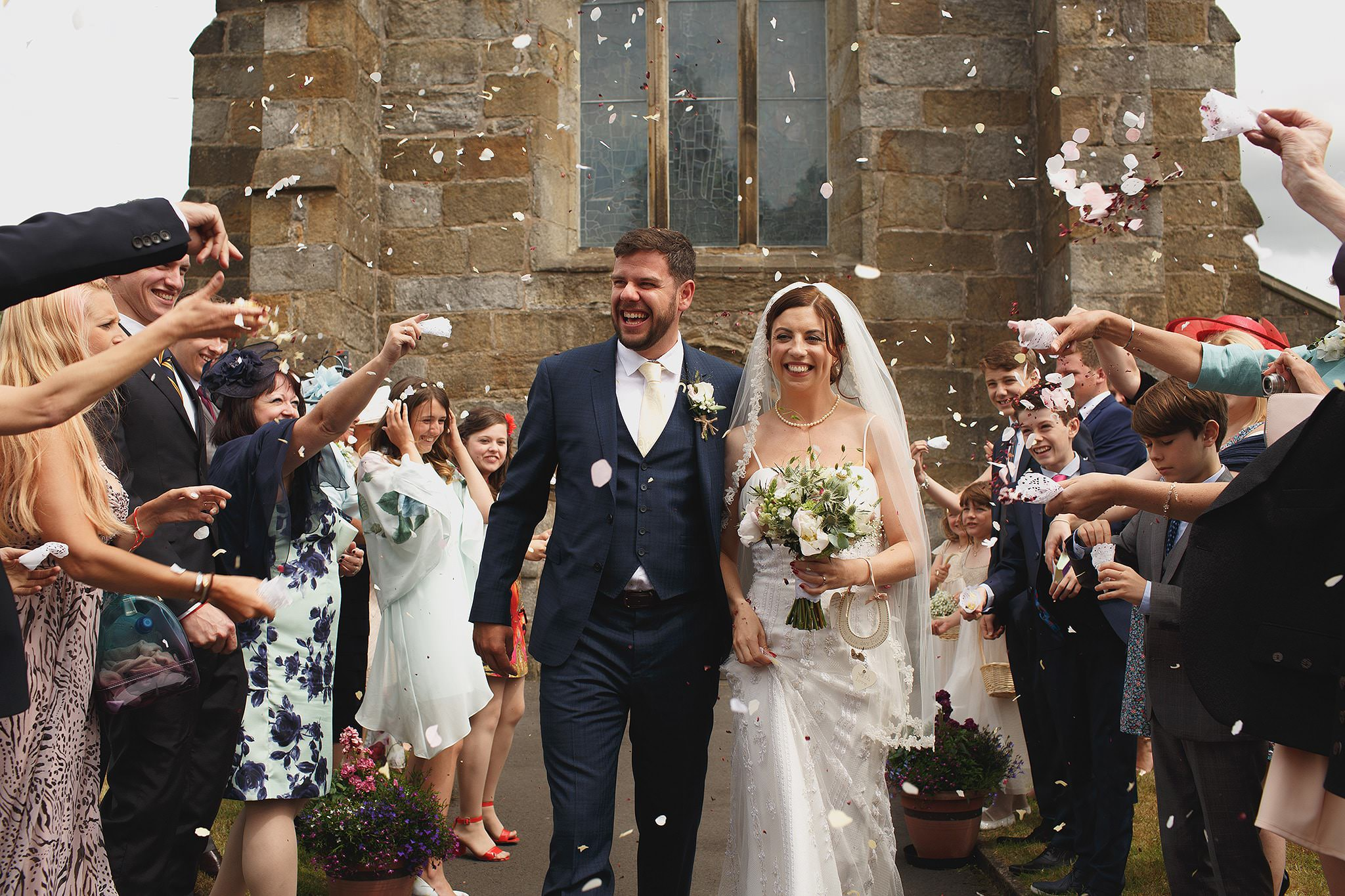 Confetti ideas by Browsholme Wedding Photographer Toni Darcy.
