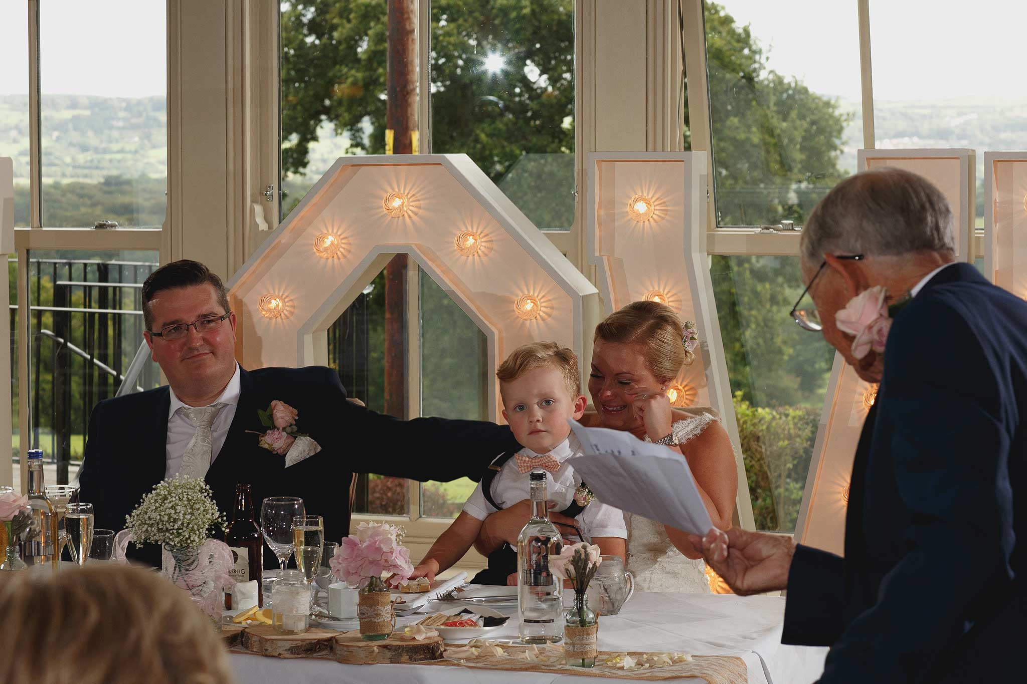 speeches during wedding at the shireburn arms