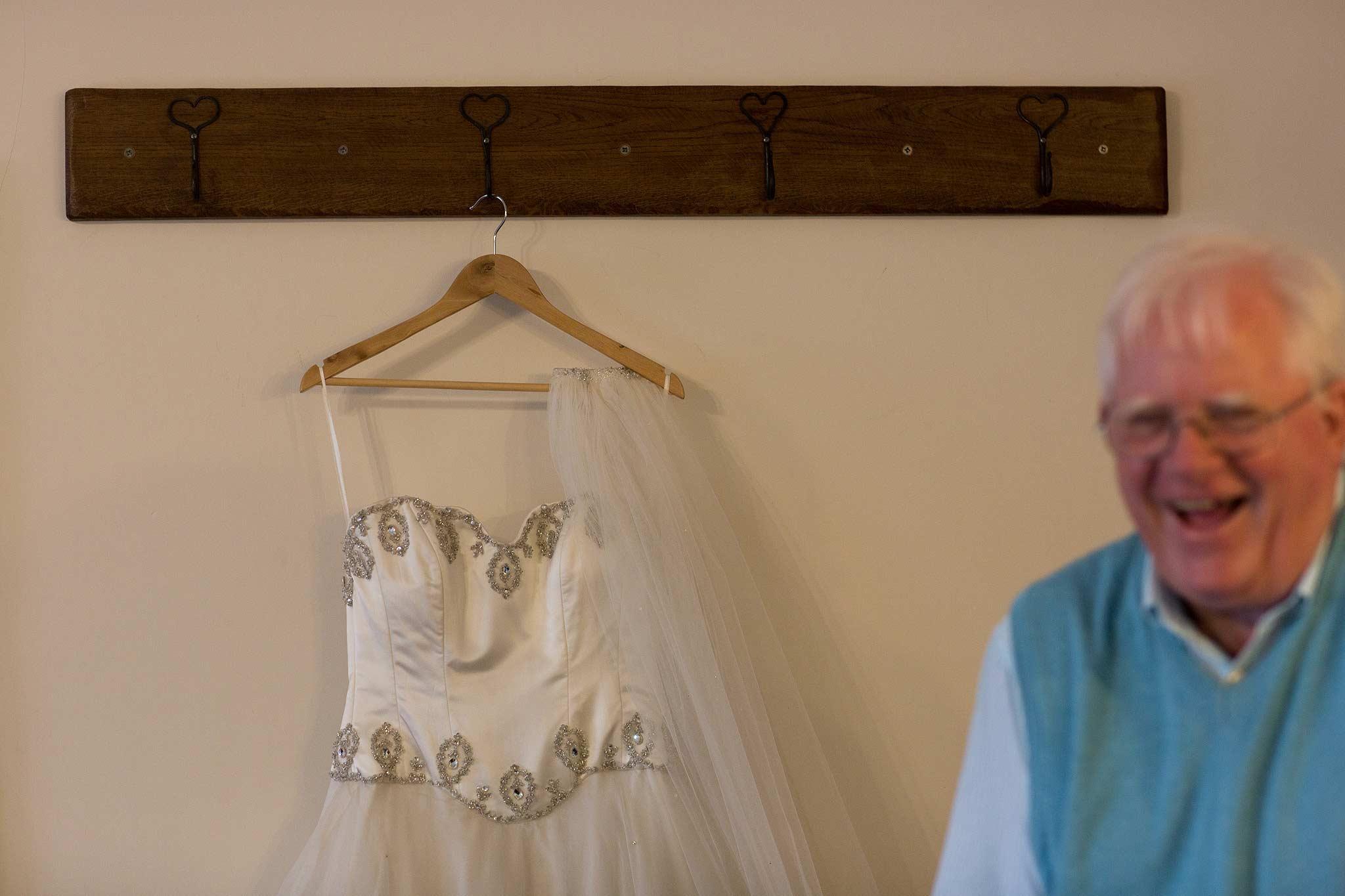 wedding dress at Heaton House Farm