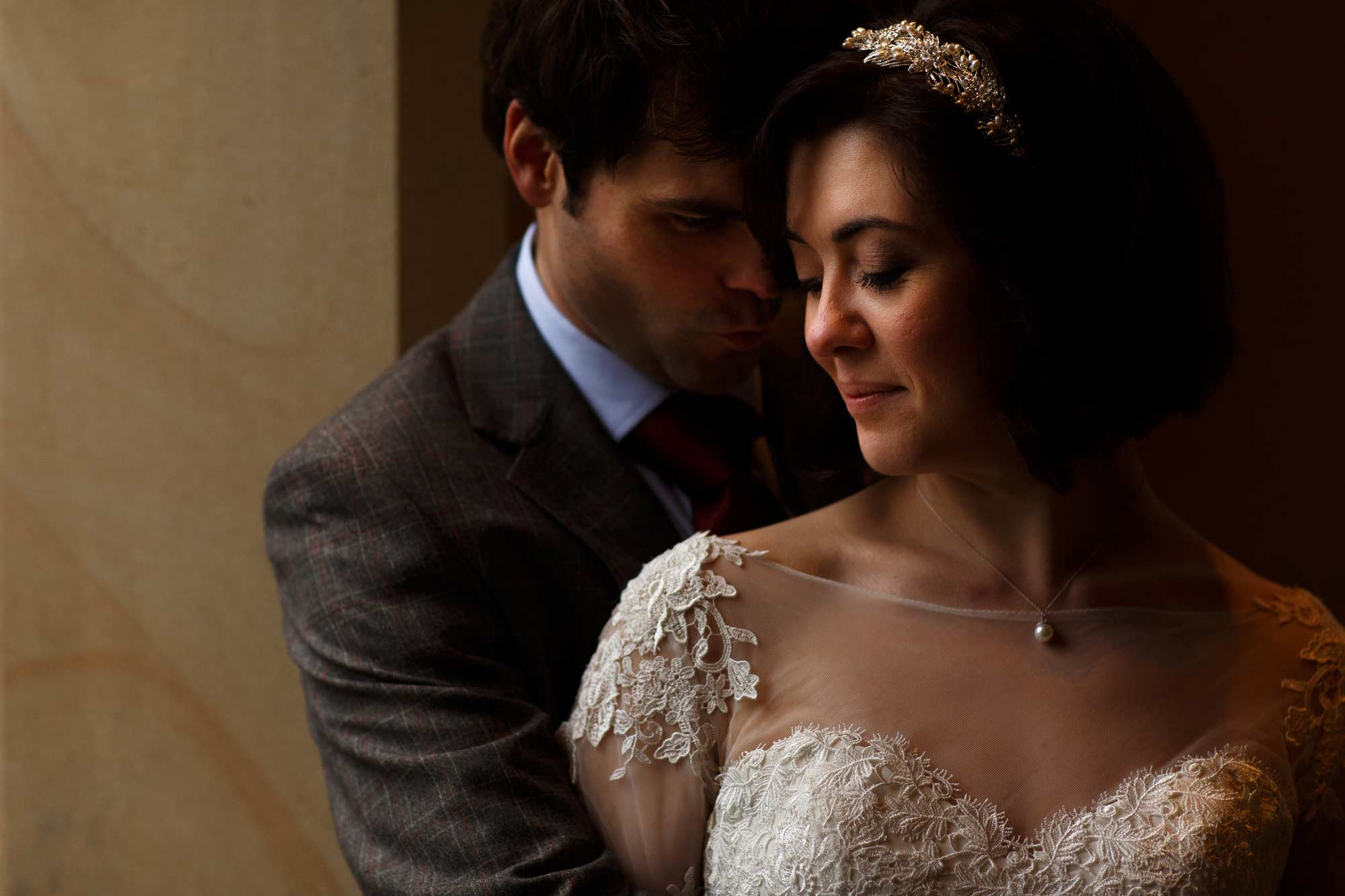 close up cropped photograph with perfect lighting during mitton hall wedding