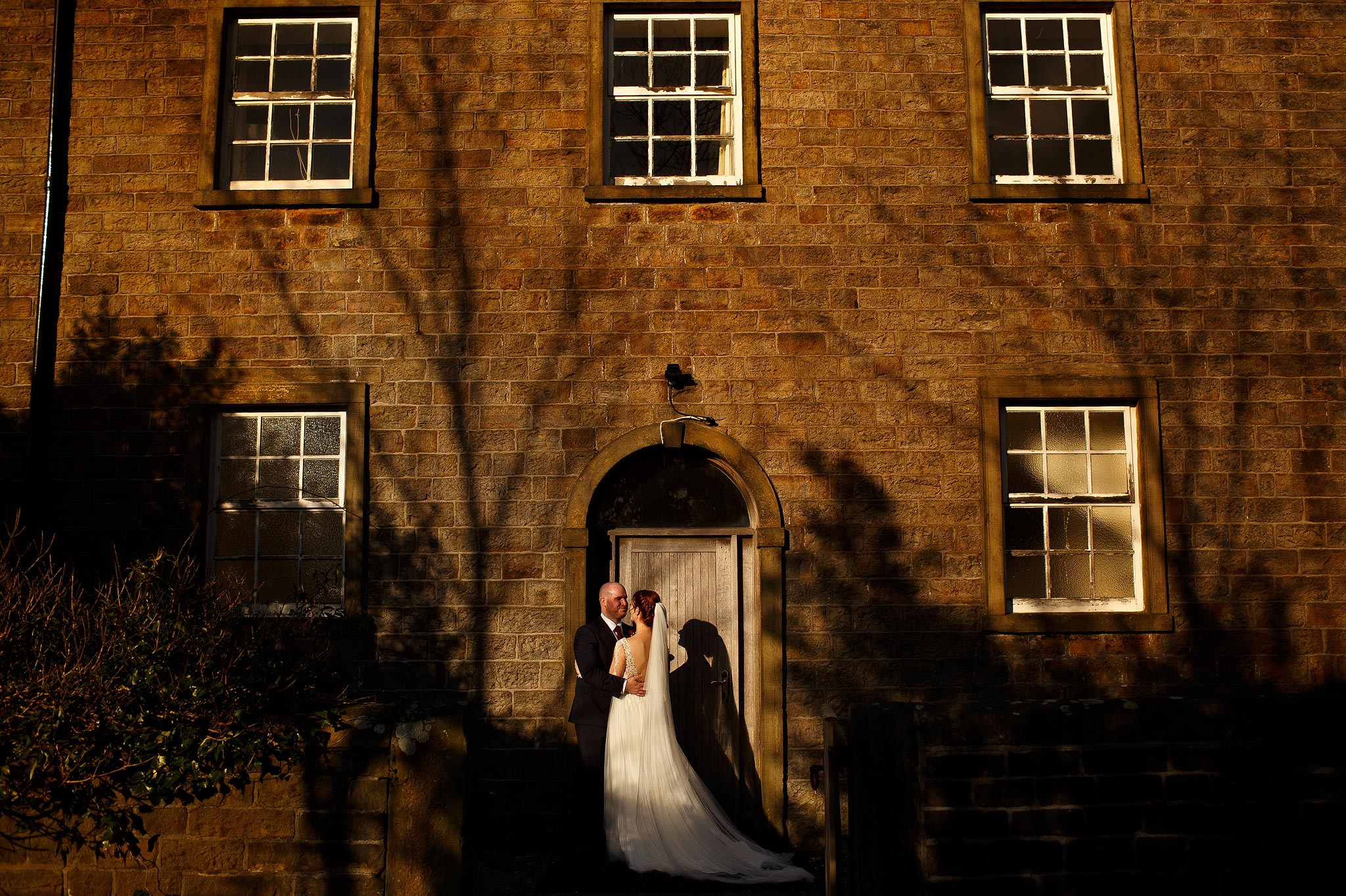 Bride and groom wedding portraits in Downham
