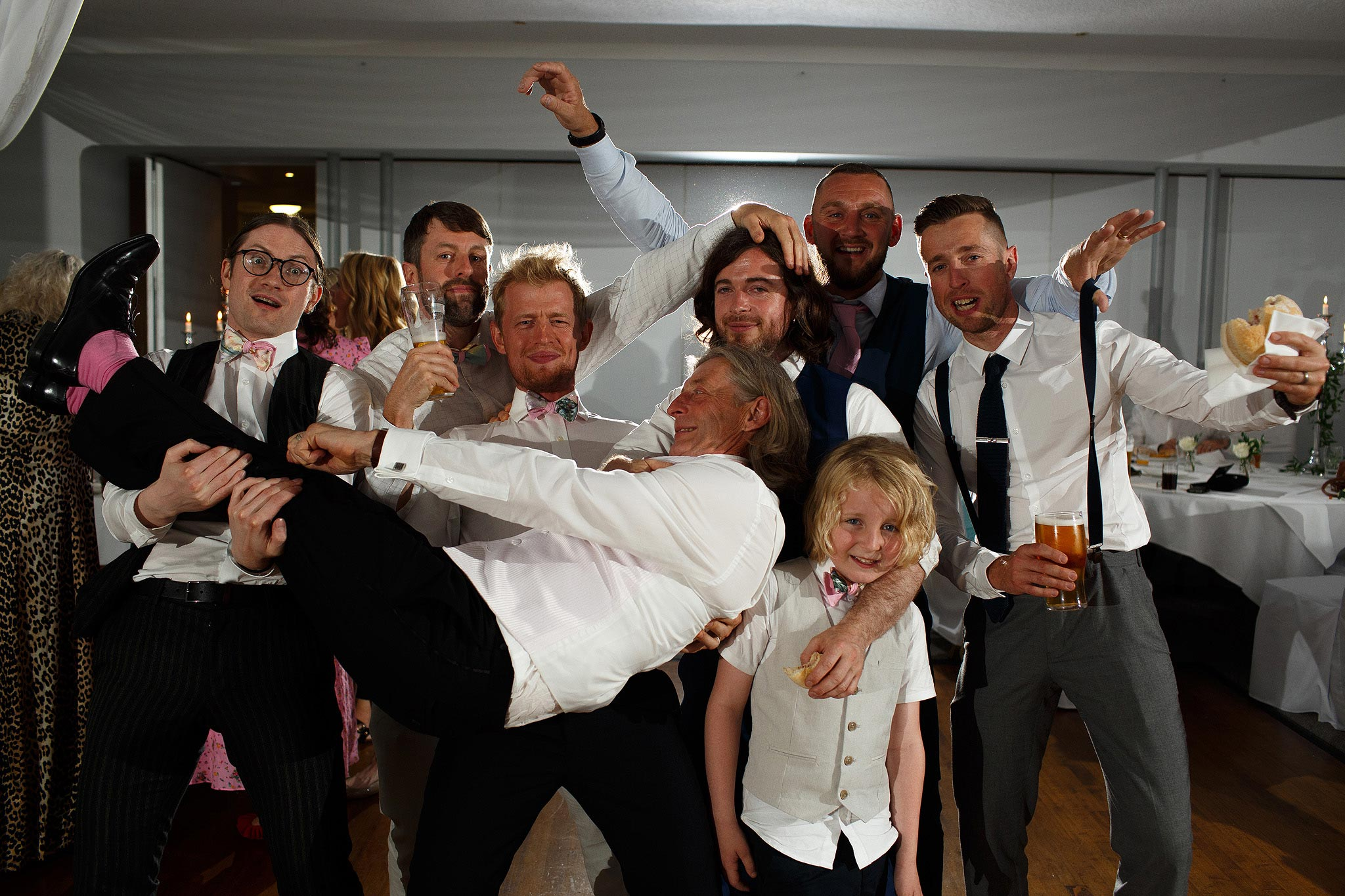 Guests on the dancefloor at Stirk House wedding reception