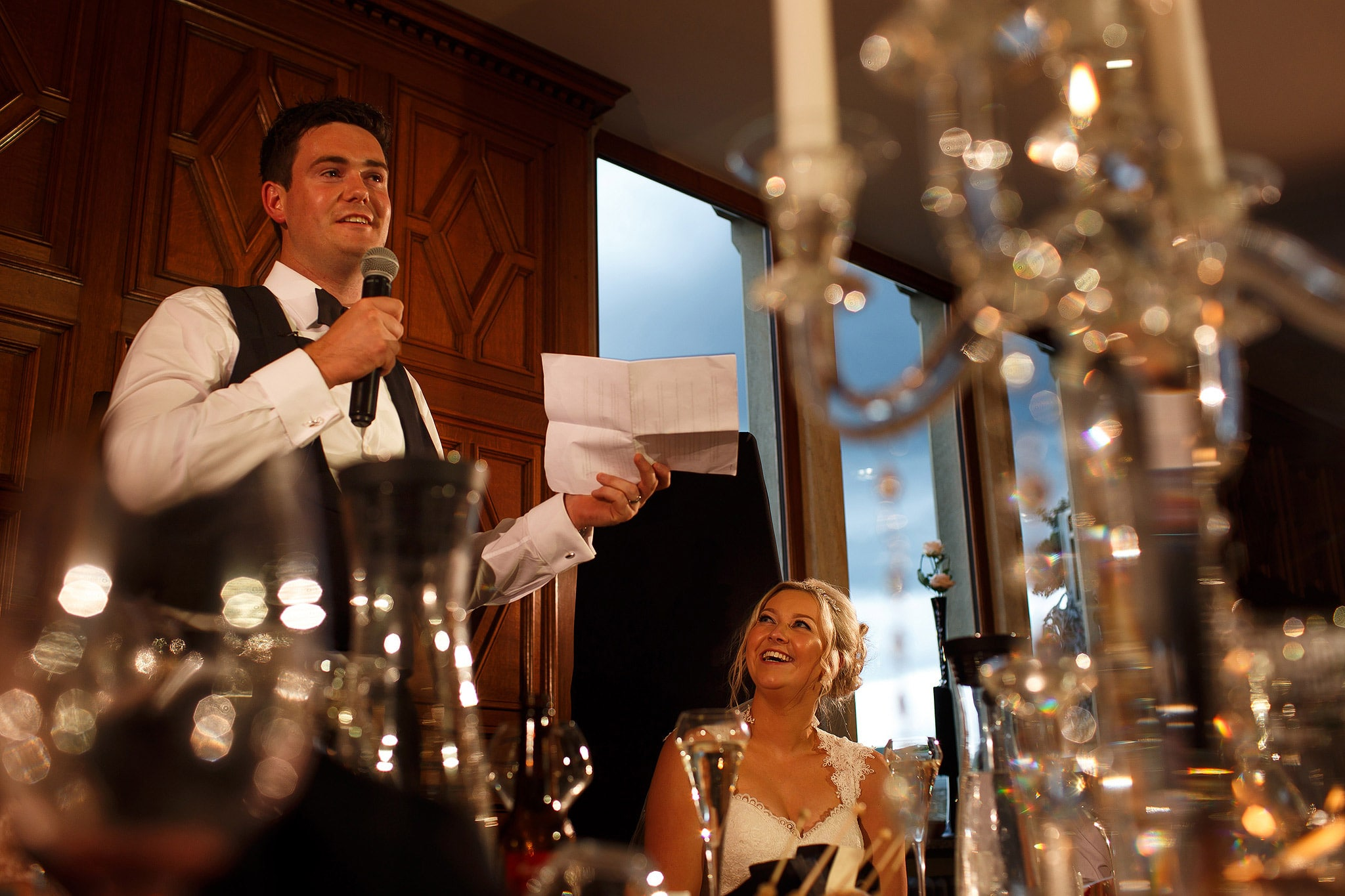 wedding speeches at saddleworth hotel reception