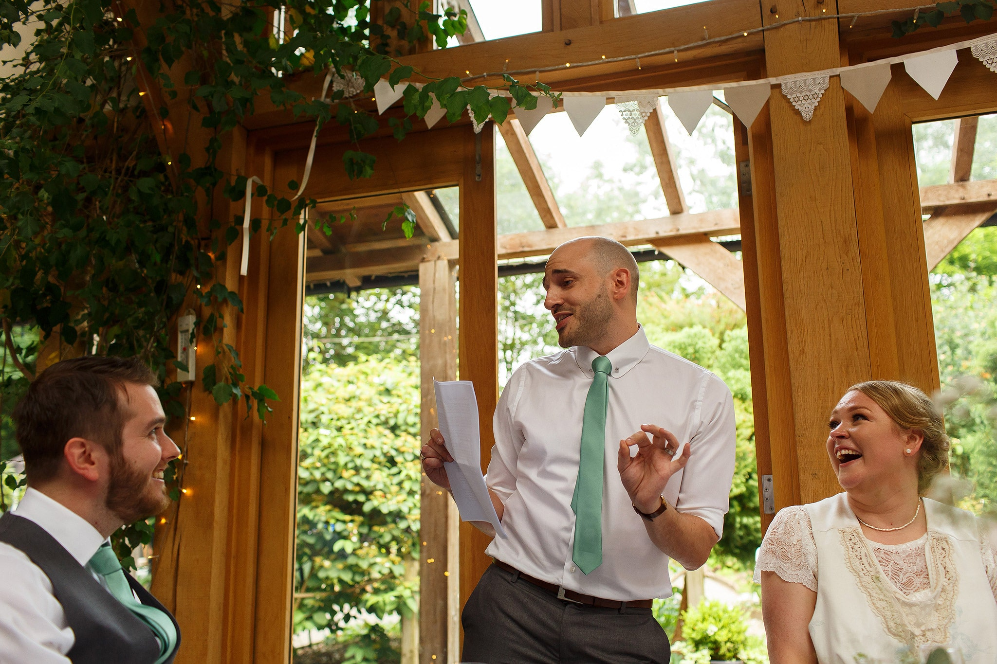 Wedding speeches at the Oak Tree at Peover