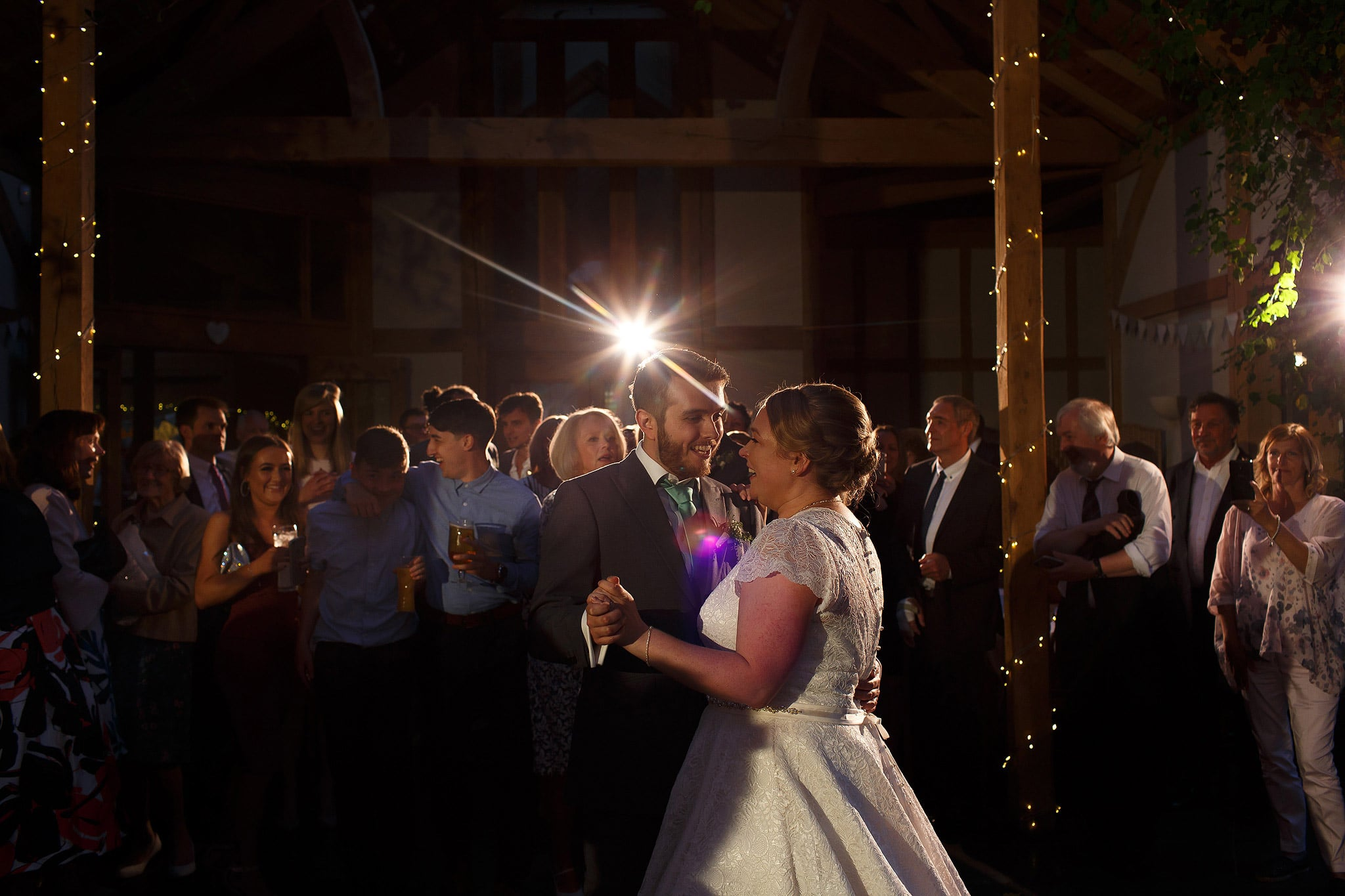 First dance of bride and groom's wedding at the Oak Tree at Peover