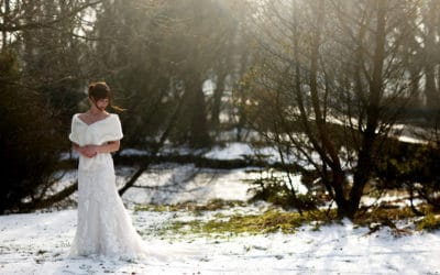 Snowy Rivington Hall Barn Wedding Photography