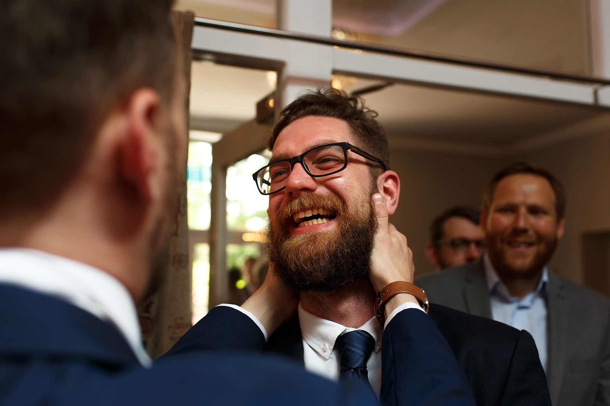 Great wedding guest expression - The Villa at Wrea Green Wedding Photography - Toni Darcy Photography