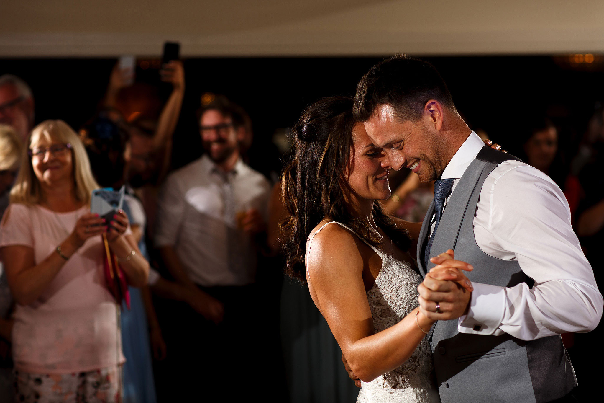 Bride and grooms first dance at Shireburn Arms wedding