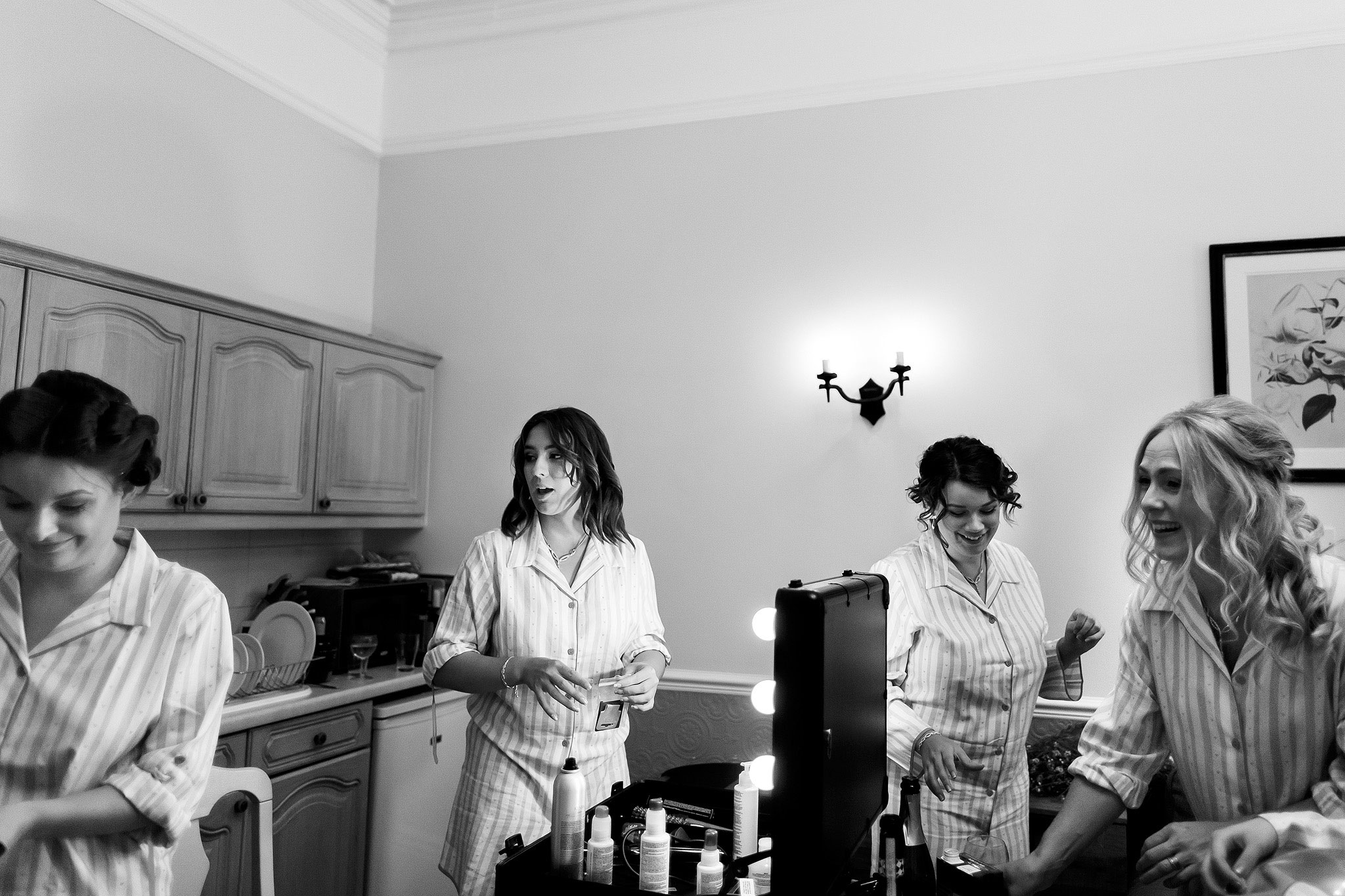 Scene setting of morning bridal preparations inside Hargate Hall | Hargate Hall Wedding Photography