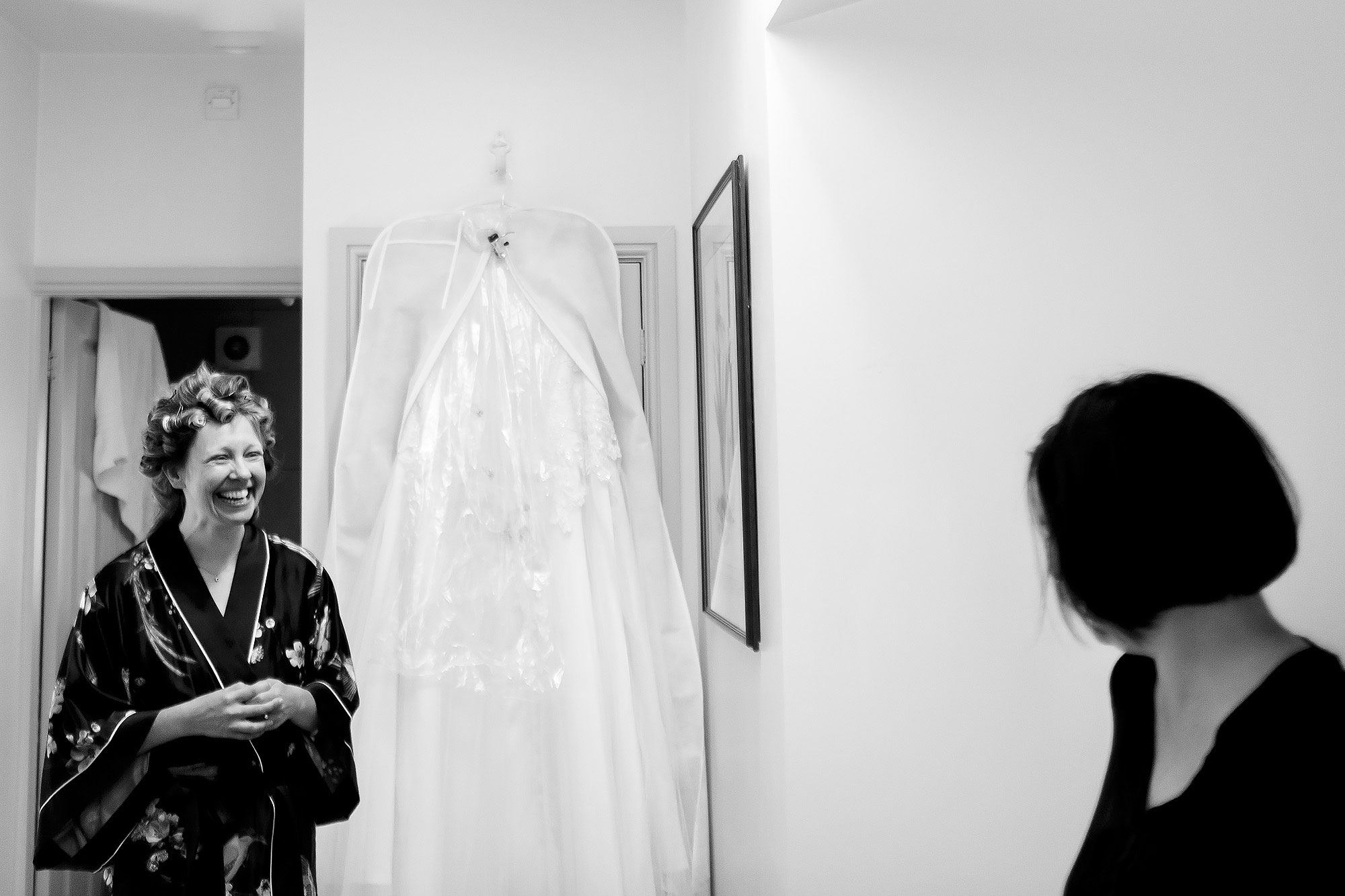 Bride getting ready in Combermere Abbey Gate House