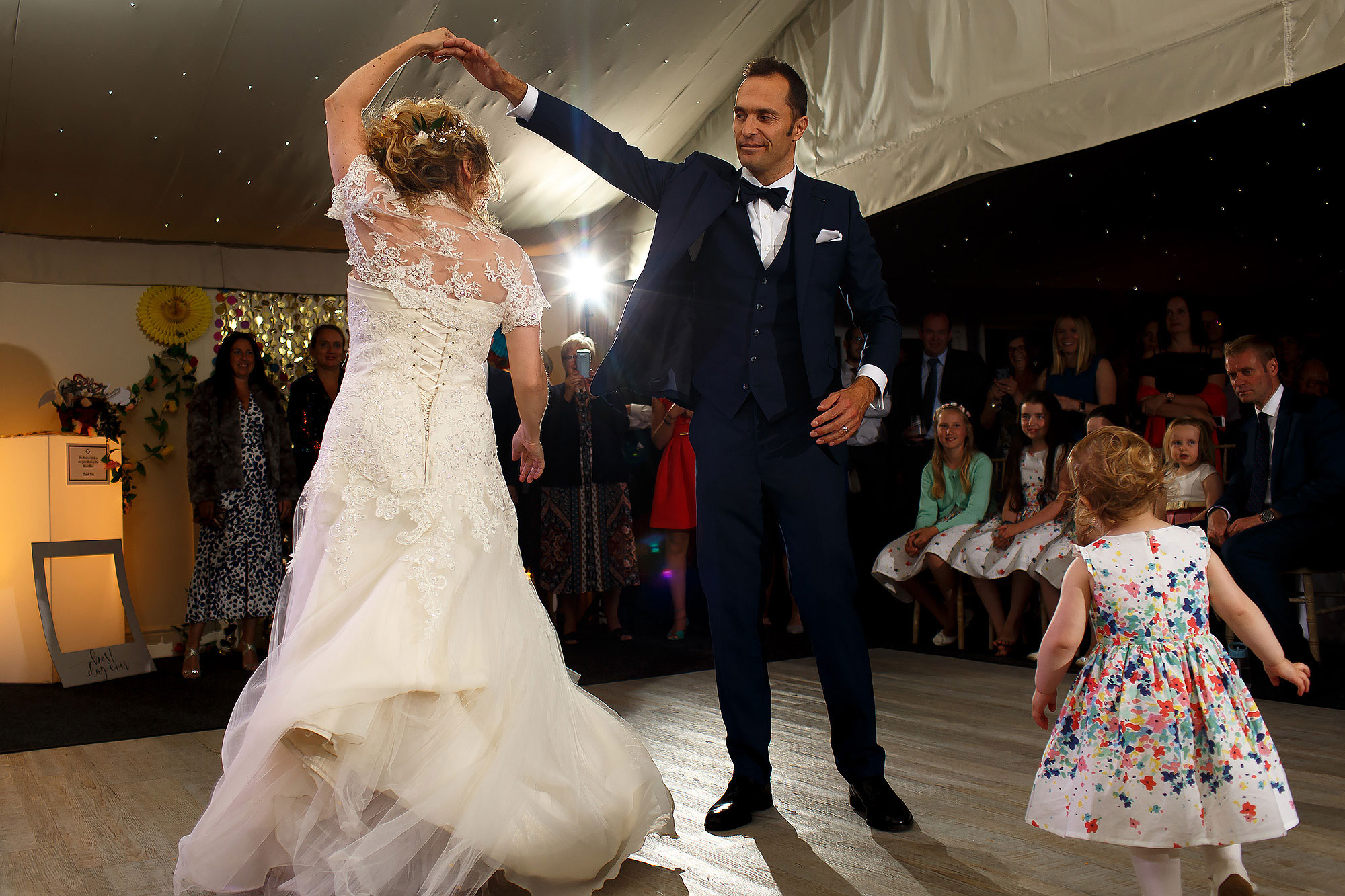 First dance in the Pavillion at Combermere Abbey Wedding