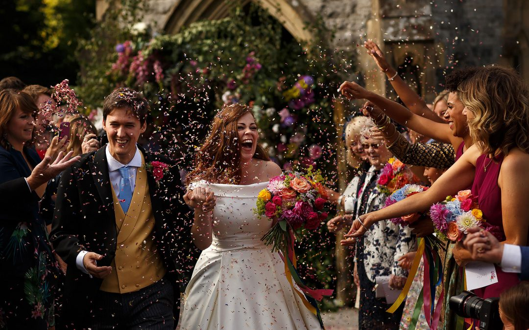 Colourful summer wedding in the Lake District