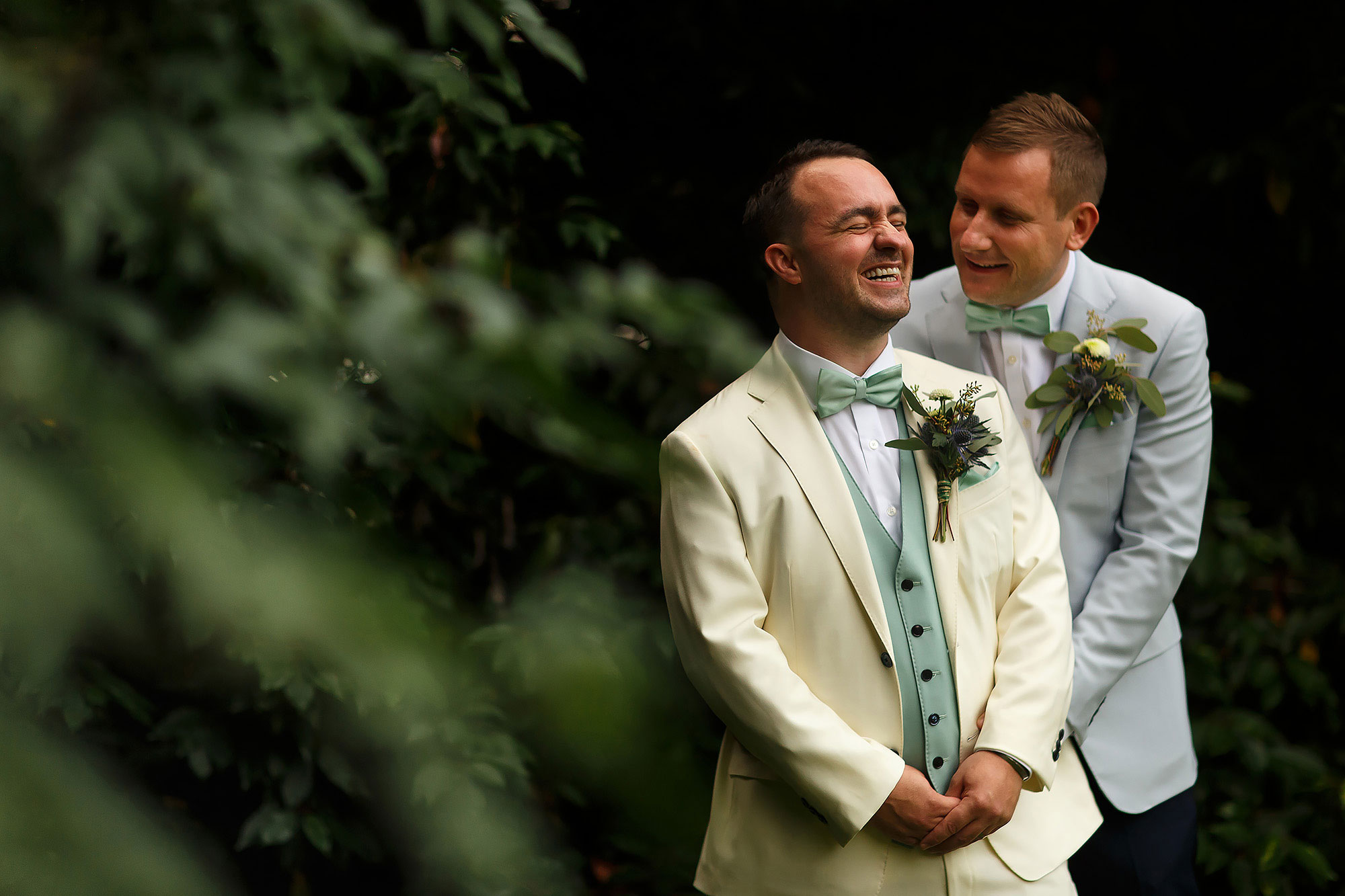 Two groom on a wedding day